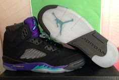 "Super max perfect Jordan5s ""Black Grape"" Jordans Girls, Air Jordans, Sneakers Fashion, Shoes Sneakers, Black Grapes, Authentic Jordans, Air Jordan 5 Retro, Sports Shops, Shoe Game"