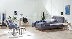 Рамка за легло KONGSBERG 140x200см сива