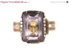 36% OFF SALE Antique Victorian Etched Amethyst & by Yourgreatfinds