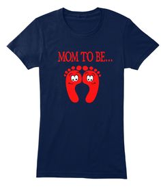 Mom To Be... Navy Women's T-Shirt Front