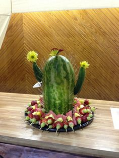 Cactus Cupcake Ideas | Ms. Ann's cactus watermelon creation .... VBS western theme