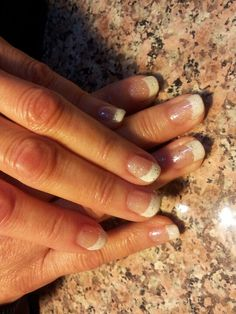 Beautiful french with glitters!