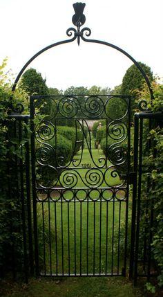Attractive Garden Gate Airlie Castle Gardens Scotland