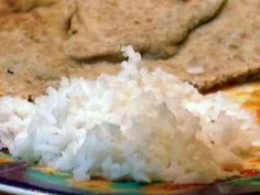Simple Basmati Rice- added a couple of crushed garlic cloves to the pot and it was delicious!