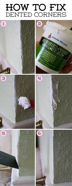 How to fix cracked and crumbled corners using spackle paste | Behind the Studio