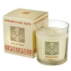 Bougie parfumée Bois de cèdre - Ambiance des Alpes