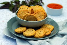 Appetizer cookies with parmesan and old-fashioned mustard - Amandine Cooking - - Parmesan, No Cook Appetizers, Mini Cakes, Tapas, Feta, Mustard, Panna Cotta, Bacon, Food And Drink