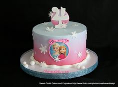 Maybe blue? Or two individual? Bolo Frozen, Torte Frozen, Disney Frozen Cake, Disney Cakes, 4th Birthday Cakes, Turtle Birthday, Turtle Party, Carnival Birthday, Birthday Ideas