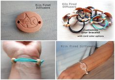 Fox Adjustable Diffuser Bracelet Clay Kids by KilnFiredDiffusers