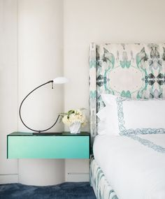 fabric on bed - Emily Summers Design Associates
