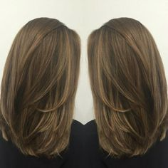 straight medium length haircuts, straight hairstyles, medium length hairstyles, new hairstyles in 2019 Straight Layered Hair, Medium Length Hair Straight, Haircuts Straight Hair, Long Face Hairstyles, Trending Hairstyles, Short Hair Cuts, Short Hair Styles, Female Hairstyles, Haircuts For Medium Length Hair Layered