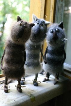 Felted critters!!! Love these!!!!