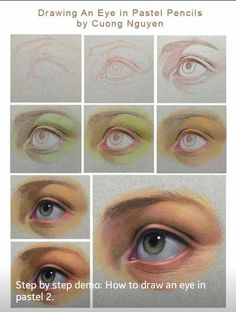 Pencil Portraits - Más - Discover The Secrets Of Drawing Realistic Pencil Portraits.Let Me Show You How You Too Can Draw Realistic Pencil Portraits With My Truly Step-by-Step Guide. Crayons Pastel, Pastel Pencils, Colored Pencils, Realistic Eye Drawing, Drawing Eyes, Eye Drawings, Horse Drawings, Pastel Drawing, Pastel Art