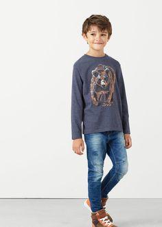 Katoenen t-shirt met afbeelding | MANGO KIDS