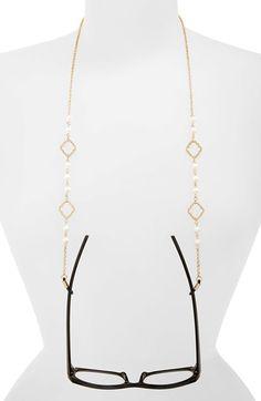 Spring Street 'Quatrefoil' Pearly Bead Eyeglass Chain