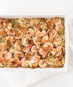 Garlic shrimp bake