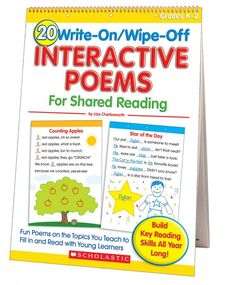 20 Write-on/Wipe-off Interactive Poems for Shared Reading (Flip Chart) | Fun Poems on the Topics You Teach to Fill in and Read with Young Learners