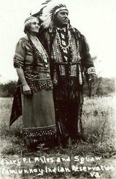 Nannie Miles and her husband, Paul L. Miles - Pamunkey - no date