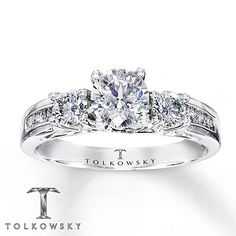 Tolkowsky Engagement Ring 1 1/4 ct tw Diamonds 14k White Gold  Close Second!