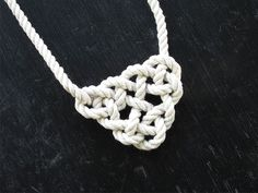 DIY Knotted Necklace: How to Tie a Celtic Triangle | Made + Remade Join my Team at:  www.tekeirn.SBC90.com