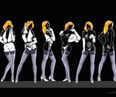 "L.E.MOORE: ""Lulu Gets Exposed"", Pop Art Unikat 2014, 150 x 150 cm"