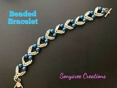 Lovely Hearts Bracelet. DIY Beaded Bracelet. How to make beaded Bracelet - YouTube