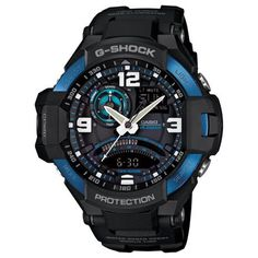 Men's Wrist Watches - GShock GA10002B Master of Gravity Stylish Watch  Black  One Size ** Want to know more, click on the image.