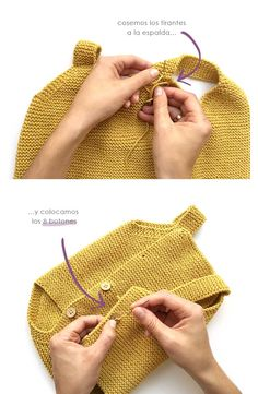 Knitted Baby Romper made with garter stich- DIY Pattern & Tutorial : Knitted Ba… – Knitting Baby İdeas. Baby Knitting Patterns, Baby Cardigan Knitting Pattern, Knitting For Kids, Crochet For Kids, Baby Patterns, Free Knitting, Sweater Patterns, Vintage Knitting, Loom Knitting
