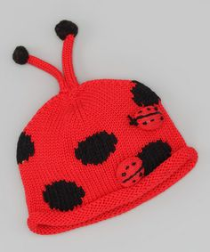 Take a look at this Red Ladybug Classic BeanieToddler & Kids by Nana Knits on #zulily today!