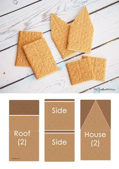 Easy Steps to Build a Gingerbread House with Graham Crackers – onecreativemommy. Gram Cracker Gingerbread House, Homemade Gingerbread House, Gingerbread House Parties, Christmas Gingerbread House, Christmas Fun, Gingerbread Houses, Italian Christmas, Gingerbread Cookies, Holiday Fun