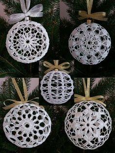 schematy bombek by siwa Christmas Globes, Victorian Christmas Ornaments, 1st Christmas, Christmas Bells, Christmas Baubles, Christmas Crafts, Christmas Decorations, Xmas, Crochet Ball