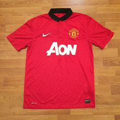 Manchester United Nike Dri-Fit 2013/14 Soccer Football Jersey Shirt Mens Medium | eBay