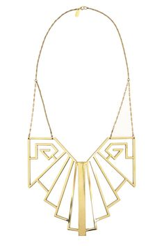 Pamela Love Wrought Iron Breastplate Necklace, $660; net-a-porter.com   - ELLE.com