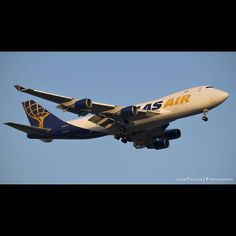 Atlas Air 744F landing at IND. #atlasair #747 #ind #indairport #indy #avgeek #instagramaviation