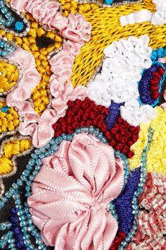 Christopher Kane|Brain-embroidered silk-organza top|NET-A-PORTER.COM