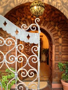 Beautiful gate on this historic house built in 1927