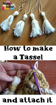 How to make a Tassel & Attach it - Meladora