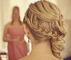 i. love. braids. @Kasey Castle braid for the back of the hair for the wedding?