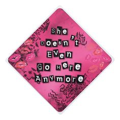 Decorate your grad cap with this line from Mean Girls. Need grad cap decorating ideas?Find a large selection of designs for your graduation cap. Teacher Graduation Cap, Disney Graduation Cap, Funny Graduation Caps, Graduation Cap Toppers, Graduation Cap Designs, Graduation Cap Decoration, Decorate Cap For Graduation, Decorated Graduation Caps, Funny Grad Cap Ideas