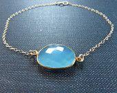 Blue chalcedony Bracelet $42 Style Number 10058S