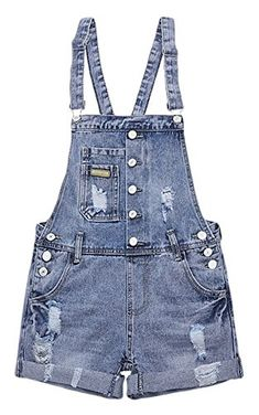 AvaCostume Womens Wash Jumper Denim Overall Frauen, Jeans Overall, Jeans,  Shorts, Spielanzug 5486787475