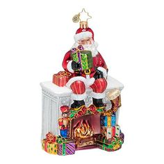 Christopher Radko Santa Mantel Ornament