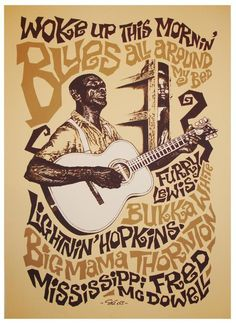 Woke up this morning ♫ Blues all around my bed ♫  #blues #blues poster