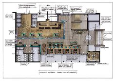Home Decorating Tips On A Budget Architecture Drawings, Architecture Plan, Architecture Details, Interior Architecture, Restaurant Floor Plan, Restaurant Design, Design Hotel, Interior Design Presentation, Plan Sketch