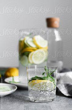 Cucumber Lemon Water by Renáta Dobránska