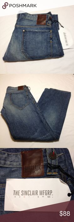 Men's Sinclair Jeans Thiel The Vertical Sinclair Jeans size 31. Length 44. Color is Hitchhiker. Sinclair Pants