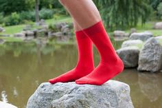 We just love these Bright Red MonteCristallo socks. #rocksock #rocksockofficial #red #socks #ootd #outfit #fashion #mensfashion #menswear #wear #style #mensstyle #luxury