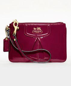 d3343b648c2 COACH MADISON PATENT SMALL WRISTLET   Reviews - COACH - Handbags    Accessories - Macy s