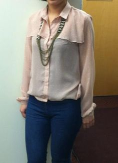 Obsessed with this Jason Wu blouse that one of our Graphic Designers is wearing today! (Urban Outfitters necklace)