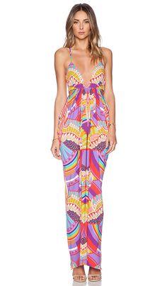Mara Hoffman Triangle Top Pink Printed Maxi Dress